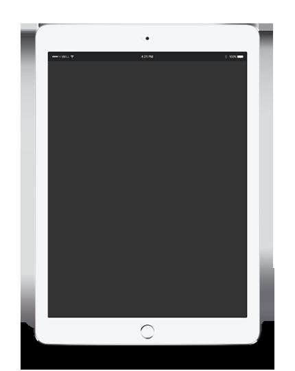 ipad blank screen